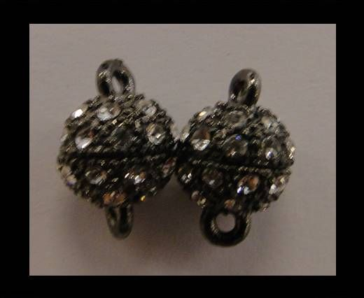 Magnetic Lock with Crystals - 8mm -MG2-Black