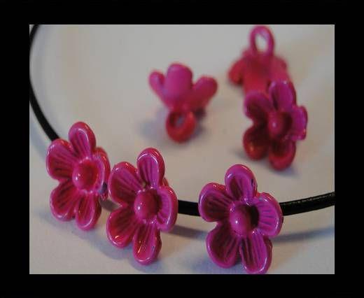 Metal Beads-Flower-Fuchsia-8mm