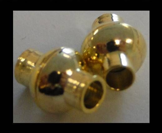 Magnetic Locks for leather Cords - MGL-4-8mm-GOLD