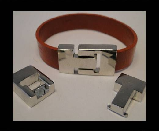 Magnetic Locks for leather Cords - MGL-56-12,5mm*3mm-Steel