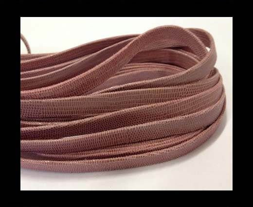 Nappa Leather Flat -10mm-Lizard Red Paill Transp