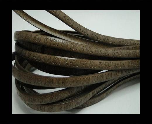 Real Flat Leather-5MM-IK HOU VAN JOU-tortora