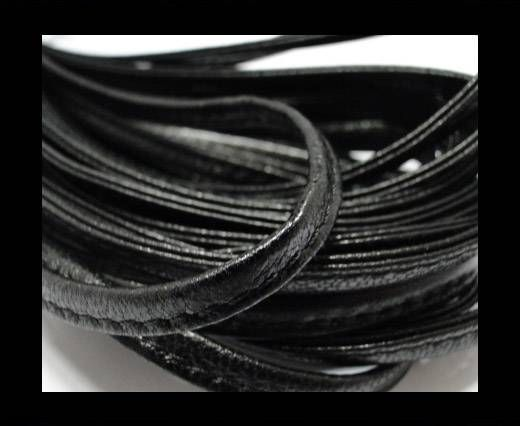Real nappa leather stitched - 5mm - Black