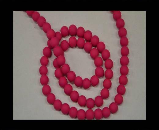 Round Glass beads 8mm - Neon Pink