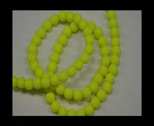 Round Glass beads 8mm - Neon Yellow