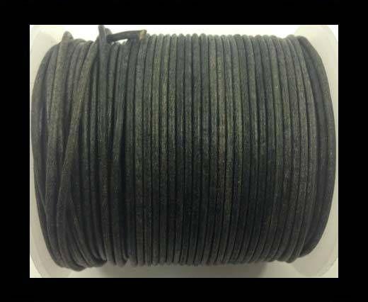 Round Leather Cord-1,5mm-vintage black