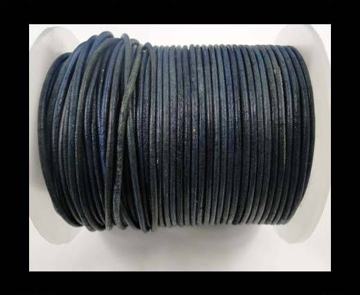 Round leather cord-2mm-vintage light blue