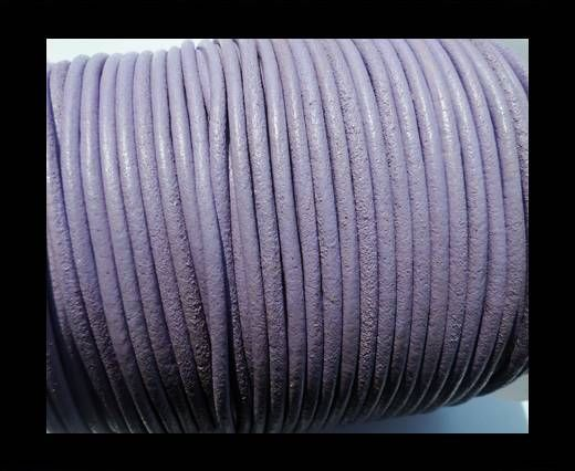 Round Leather Cord SE/R/Lavender-3mm