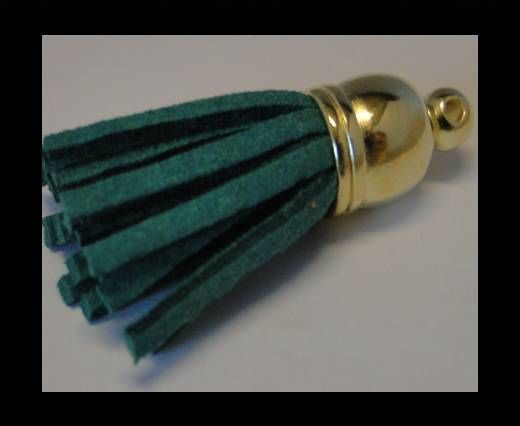 Tussels-Suede-Gold Caps-Green-30mm