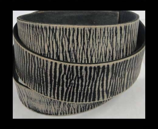 Vintage Style Flat Leather - 30mm-stripes