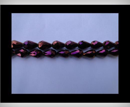Water Glass Beads -8mm*11mm-Metallic Amethyst