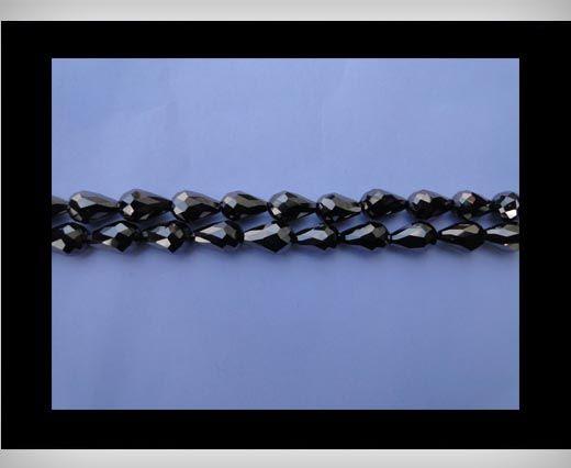 Water Glass Beads -8mm*11mm-Metallic Black