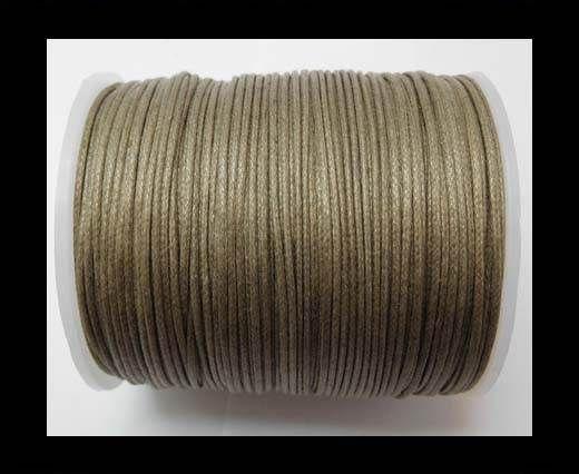 Wax Cotton Cords - 1mm - Dark Taupe