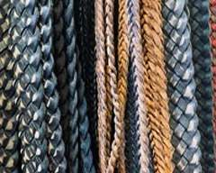 Buy Leather Cord Braided Leather Flat  at wholesale prices