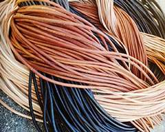 Buy Leather Cord Round Leather Leather Cords Precut Length  at wholesale prices