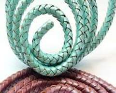 Buy Leather Cord Braided Leather Oval  at wholesale prices