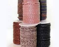 Buy Leather Cord Braided Leather Round  at wholesale prices