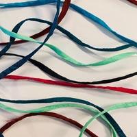 Habotai Seidenbänder in vielen verschiedenen Farben