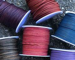 Buy Leather Cord Round Leather 2mm   at wholesale prices