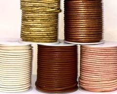 Buy Leather Cord Round Leather 3mm  at wholesale prices