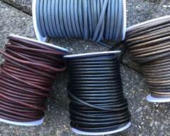 Buy Leather Cord Round Leather 4mm  at wholesale prices