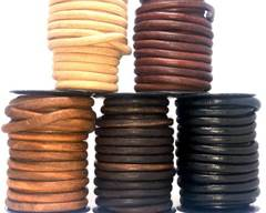 Buy Leather Cord Round Leather 8mm  at wholesale prices