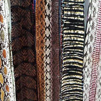 Buy Leather Cord Leather Accessories  Water Snake Skins   at wholesale prices