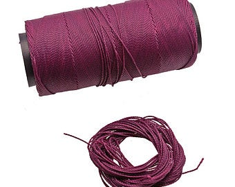 Buy Cordoncini di cuoio Leather Threads Waxed Nylon Thread 1.2mm  at wholesale prices