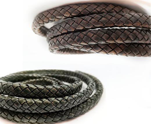 Buy Leather Cord Braided Leather Oval Regaliz Oval Regaliz Braided 10mm by 5mm  at wholesale prices