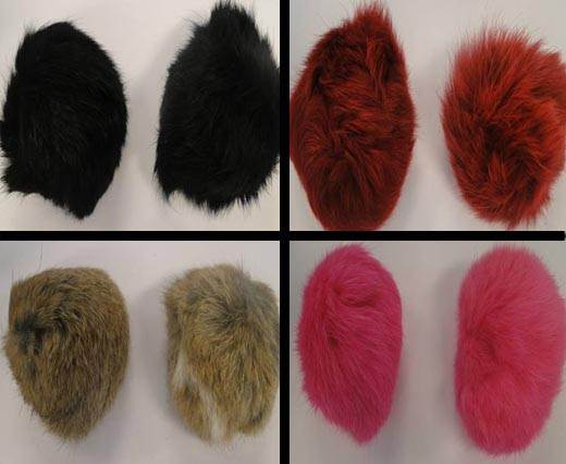 Buy Autres Fourrures et plumes Fourrure de lapin - 10cm  at wholesale prices