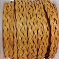 Buy Cordón de cuero Cuero trenzado Plano Plano Cordones de cuero trenzado plano 10 mm cuero plano trenzado de 5 cordones  at wholesale prices