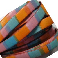 Buy Leather Cord Flat Leather Italian Leather Cord  10mm Multicolor Leather   at wholesale prices