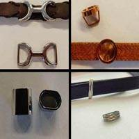 Buy Stainless Steel Findings for Leather cords Part for flat leather -- Size 11mm;12mm;13mm;14mm;15mm;20mm at wholesale prices
