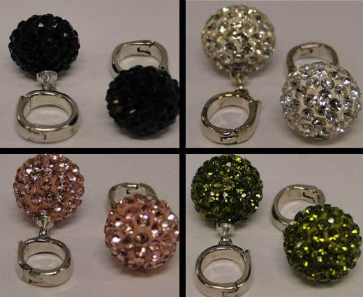 Buy Perles Shamballa Avec anneau 12mm  at wholesale prices