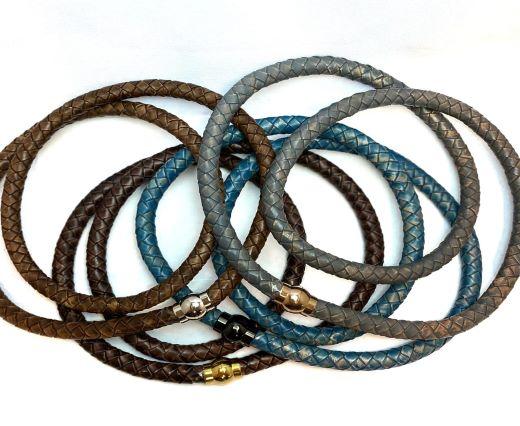 Buy Lederbänder Lederband geflochten Rund 12mm  at wholesale prices