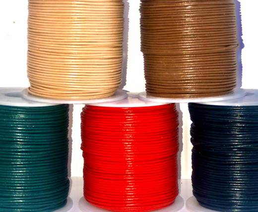 Buy Leather Cord Round Leather 1mm Plain  at wholesale prices
