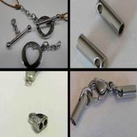 Buy Acciaio inossidabile Elementi in acciaio inossidabile Stainless Steel Parts for Leather - Steel Colour Misure 1.5mm , 2mm , 2.5mm , 3mm  at wholesale prices