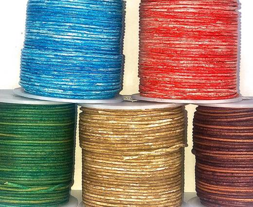 Buy Leather Cord Round Leather 1.5mm Vintage   at wholesale prices