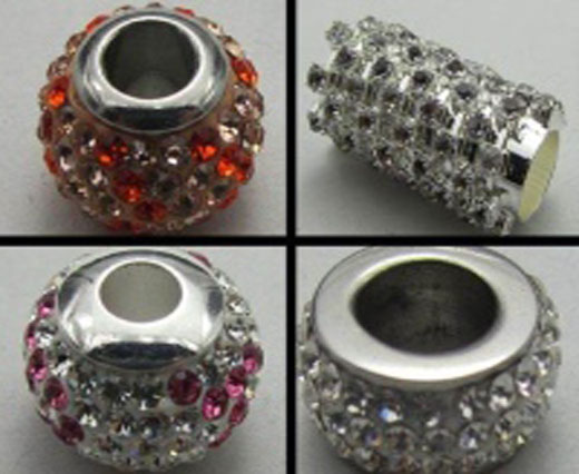 Buy Beads Big Hole Beads with Crystals  at wholesale prices
