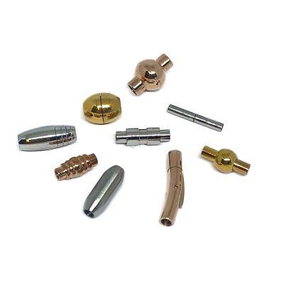 Buy Chiusure per Gioielli Chiusure Magnetiche Chiusure magnetiche in acciaio inox Fermagli tondi  2mm - 3mm  at wholesale prices