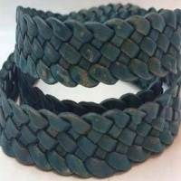 Buy Leather Cord Braided Flat 20mm  at wholesale prices