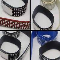 Buy Bead String material and Faux Cords Suede Cords with Studs Studs, 5 Layers - 20mm Silver  at wholesale prices