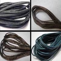 Buy Leather Cord Wholesale Nappa Leather Cords Manufacturer Round Stitched 3 mm at wholesale prices