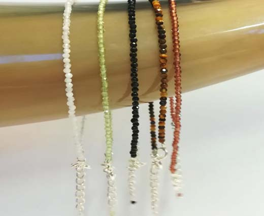 Buy Piedras Semipreciosas 2mm Gemstone necklace and bracelet finished  at wholesale prices