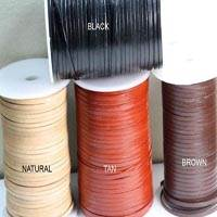 Buy Leather Cord Flat Leather  Cow Leather with thickness 1.1-1.3mm 2mm  at wholesale prices