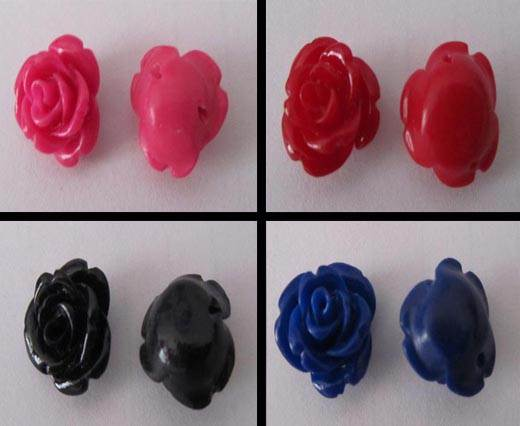 Buy Perles Roses en pierre 32mm  at wholesale prices