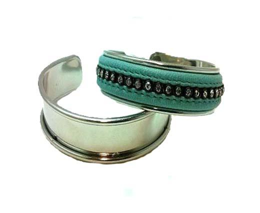 Buy Componenti per gioielli in Zamak e Rame Braccialetti di metallo in ottone e rame Bracciali di metallo color acciaio  at wholesale prices