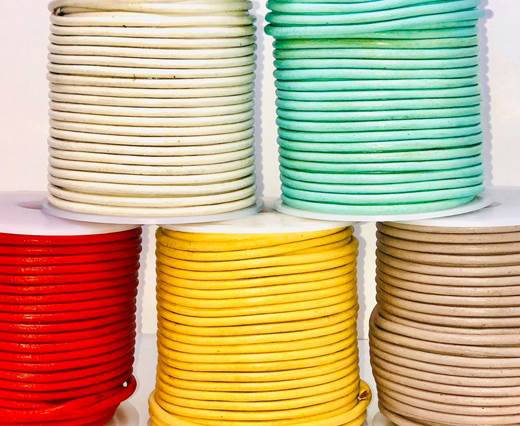 Buy Leather Cord Round Leather 3mm Plain  at wholesale prices