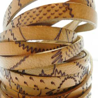 Buy Leather Cord Flat Leather Italian Leather Cord  Flat Cords with Maya Patterns - 5mm  at wholesale prices