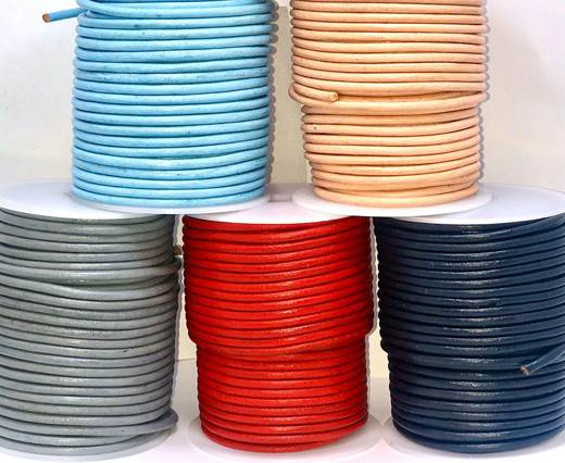 Buy Leather Cord Round Leather 4mm Regular  at wholesale prices
